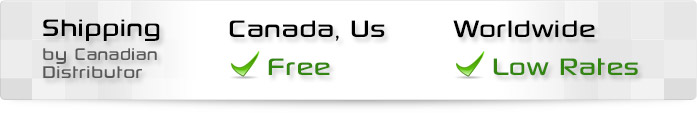 Canadian Distributor, CA US Free Shipping, Worldwide Low Rates